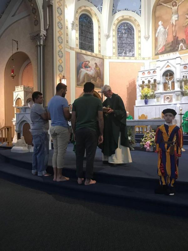 Scene from the Brazilian Community Celebration of Fr. Jim's 50th Anniversary
