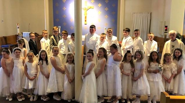 First Communion Day with Fr. Jim Hickey